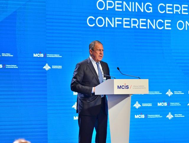 Глава МИД РФ Сергей Лавров на V Московской конференции по международной безопасности