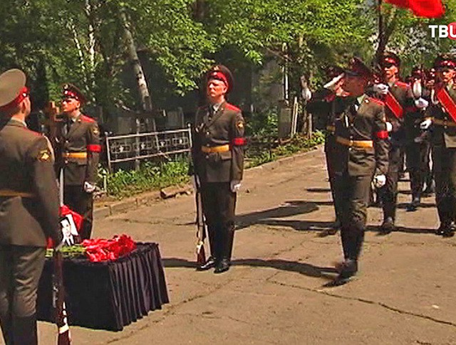 Похороны солдат Красной армии в Ростовской области
