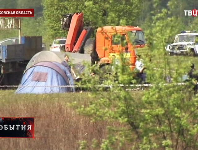 На месте убийства мотоциклистов в Московской области