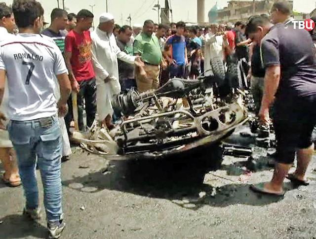 Последствия взрыва в Ираке