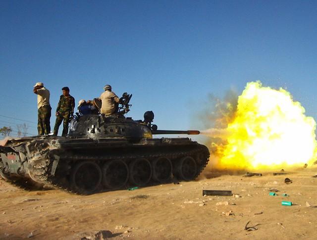 Танк Т-62 ВС Ливии