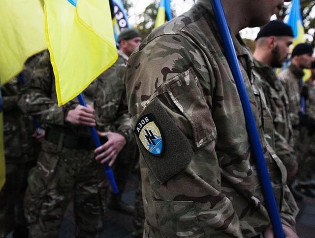 """Бойцы батальона """"Азов"""". Киев, Украина"""
