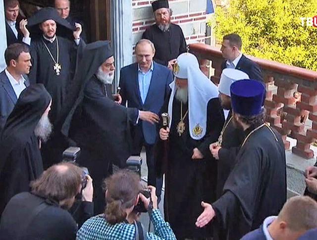 Владимир Путин и патриарх Кирилл