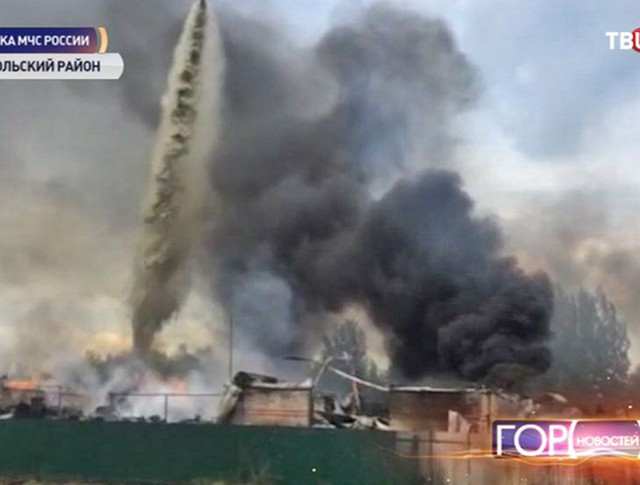 Пожар на складах под Подольском