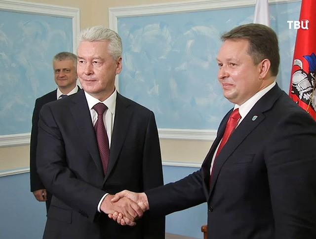 Мэр Москвы Сергей Собянин и председатель Минского горисполкома Андрей Шорец