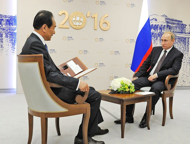 """Президент России Владимир Путин Интервью дает интервью китайскому информагентству """"Синьхуа"""""""