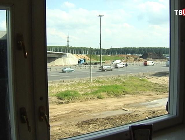 Вид на Ярославское шоссе из окна коттеджа