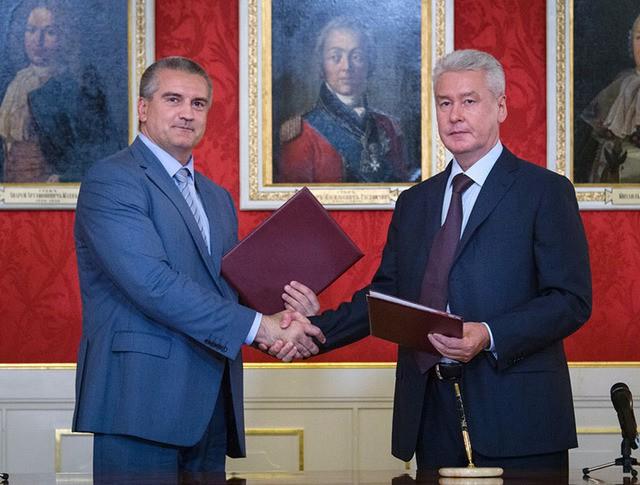 Подписание соглашения о сотрудничестве между Москвой и республикой Крым