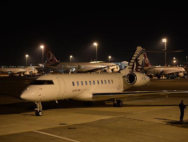 Самолеты в аэропорту Стамбула