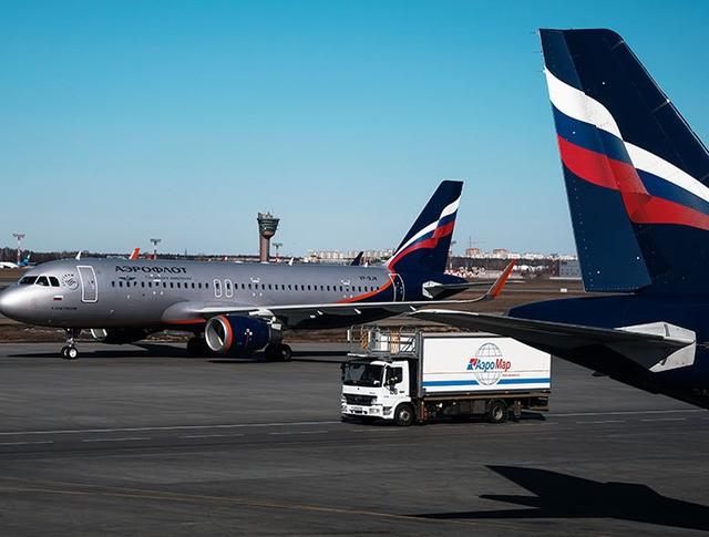 "Самолет Airbus A320 авиакомпании ""Аэрофлот"""
