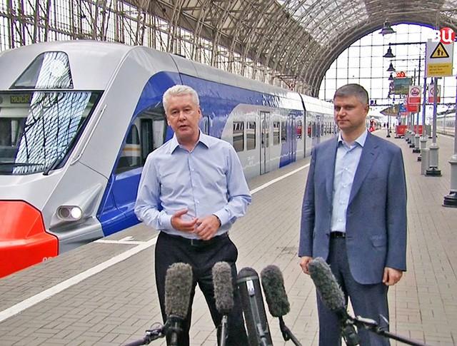 Мэр Москвы Сергей Собянин на Киевском вокзале