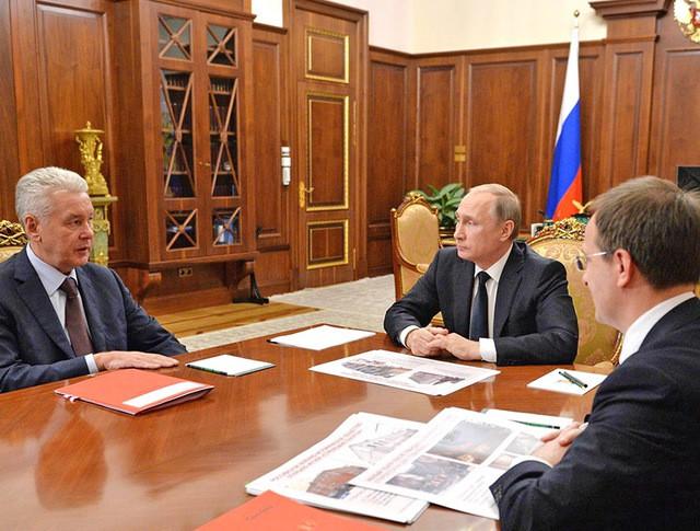 Владимир Путин, Сергеем Собяниным и Владимиром Мединским