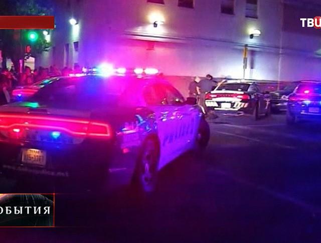 Полиция Далласа на месте происшествия. Техас, США