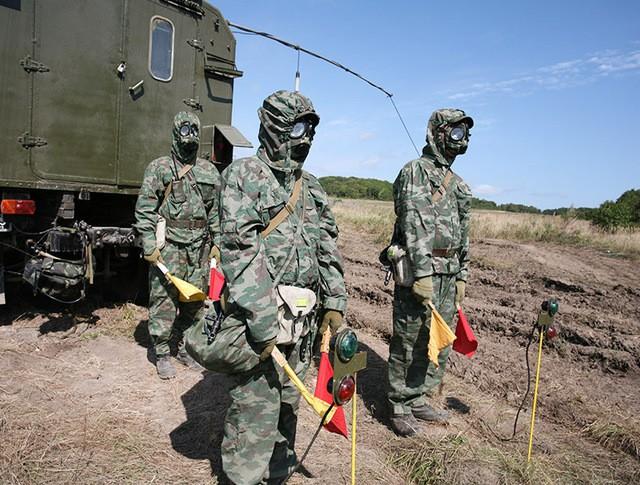 Учения военных специалистов РХЗ