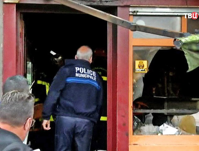 Последствия пожара в баре во Франции