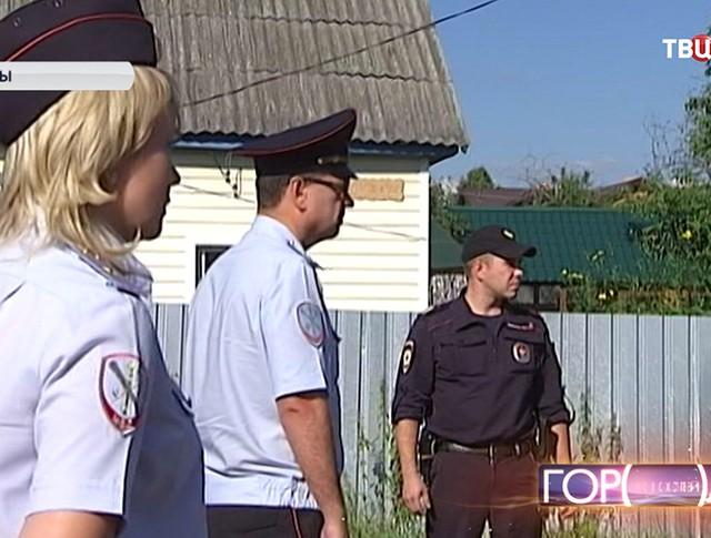 Сотрудники полиции на месте происшествия