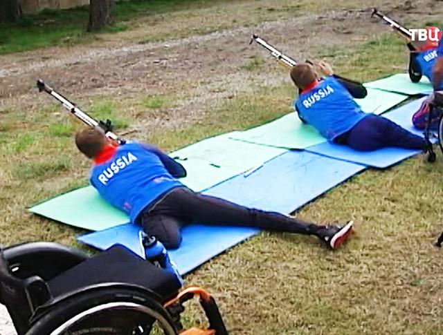 Тренировка паралимпийцев в спортивной стрельбе