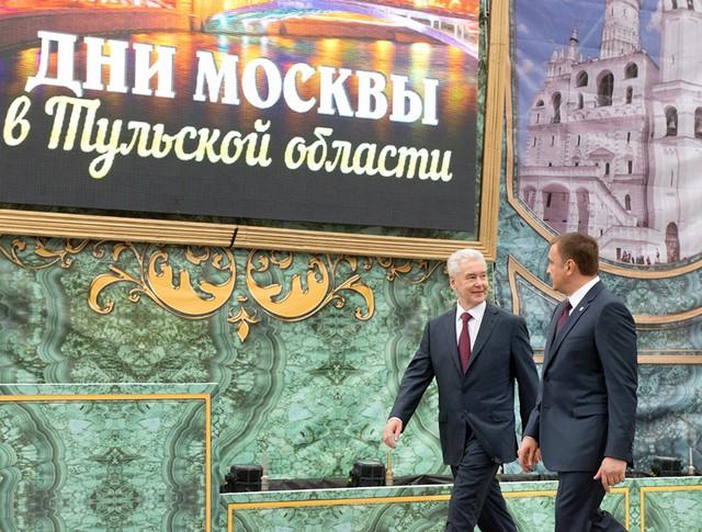 Мэр Москвы Сергей Собянин и губернатор Тульской области Алексей Дюмин
