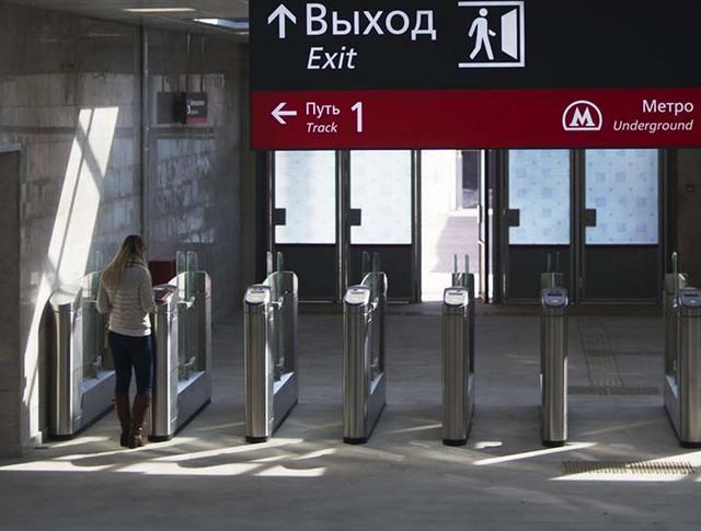 """Турникеты на станции """"Шелепиха"""" Московского центрального кольца"""