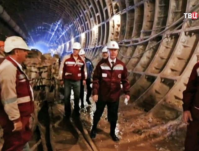 Мэр Москвы Сергей Собянин проинспектировал ход строительства метро