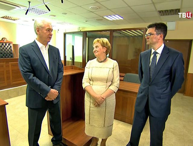Сергей Собянин осматривает новый зал суда