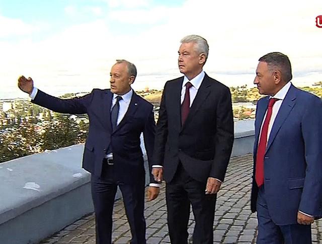 Сергей Собянин с губернатором Саратовской области Валерием Радаевым