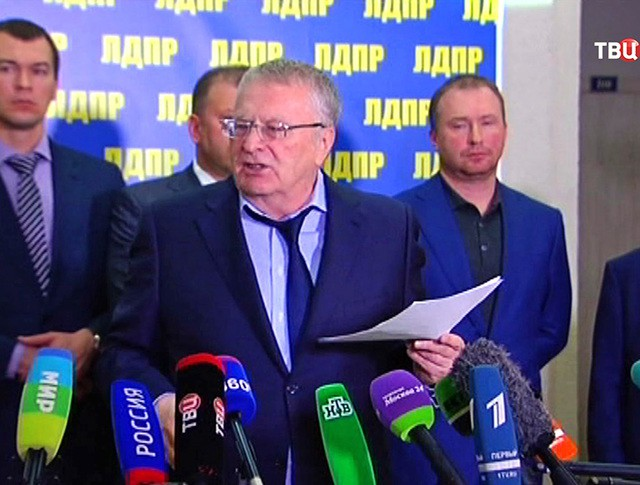 Лидер партии ЛДПР Владимир Жириновский