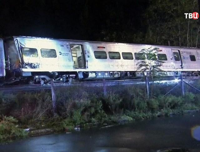 Поезд в США сошел с рельс