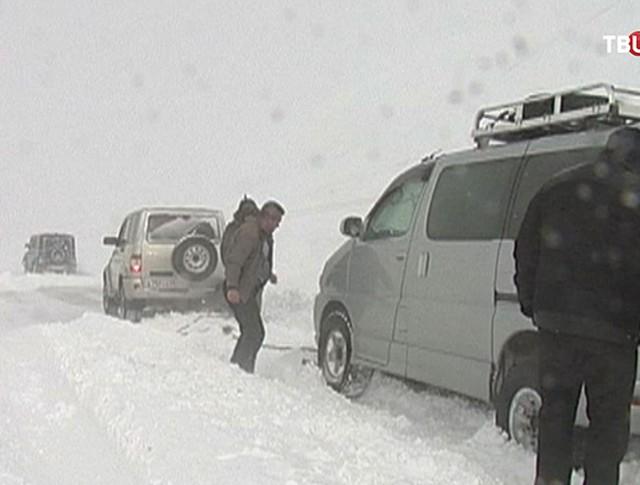 Снегопад в Магаданской области