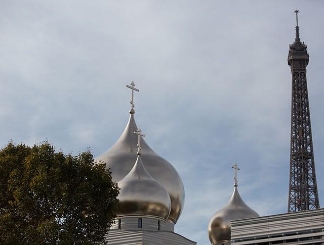 Вид на Российский духовно-культурный православный центр