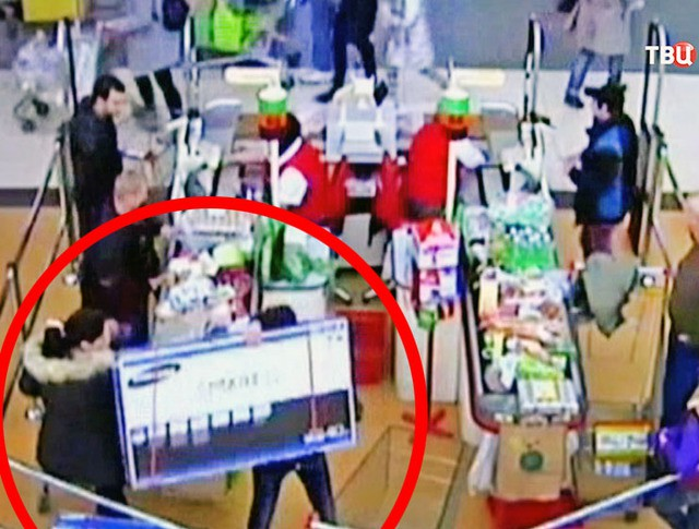 Кража телевизоров из супермаркета