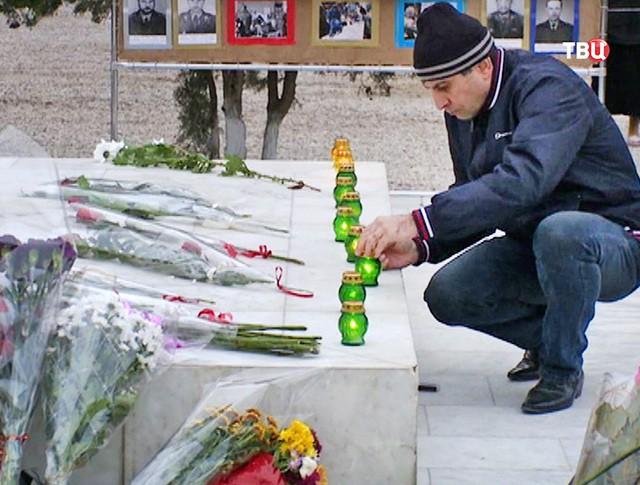 Траур по жертвам теракта в Каспийске