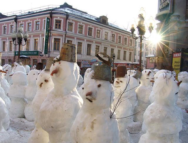 Солнечная зимняя погода