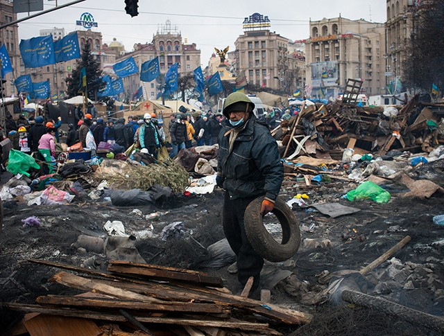 Евромайдан в Киеве. Февраль 2014 год