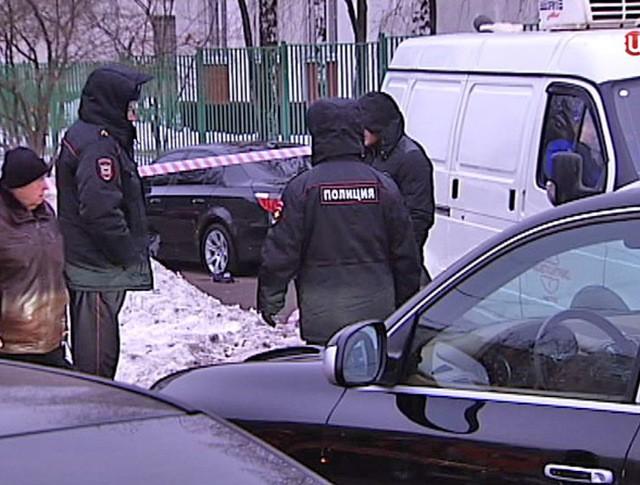 Полиция на месте убийства