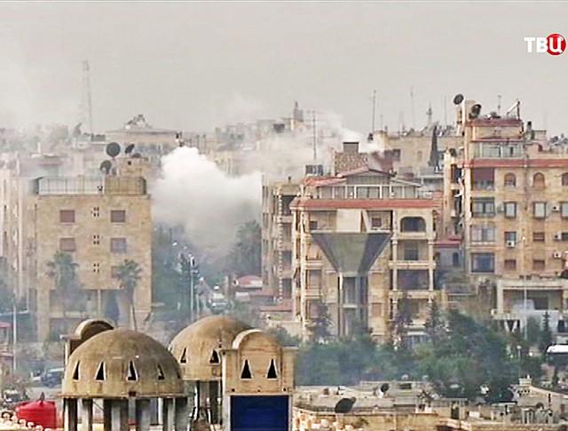 Обстрел жилых кварталов в Алеппо