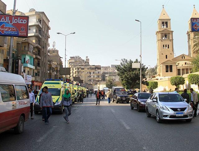 На месте взрыва в Каире, Египет