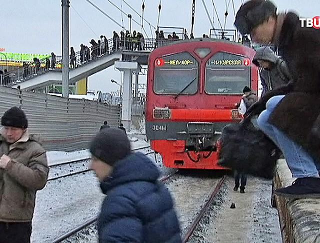 Пассажиры нарушают правила на ж/д переездах