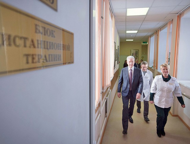 Сергей Собянин посетил больницу