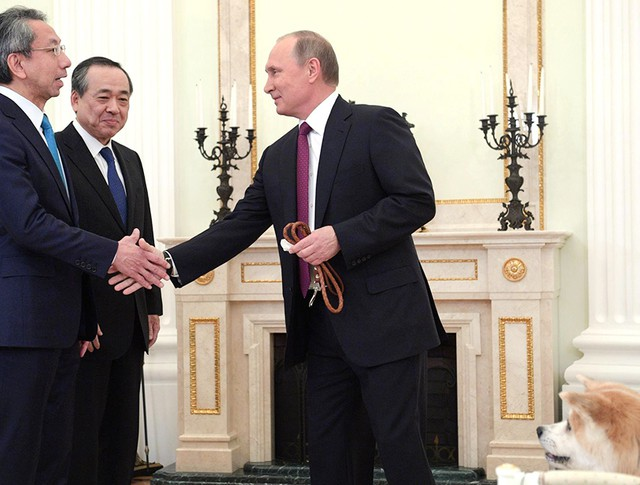 Владимир Путин и японские журналисты