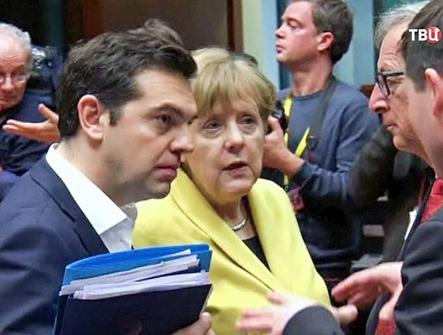 Алексис Ципрас и Ангела Меркель