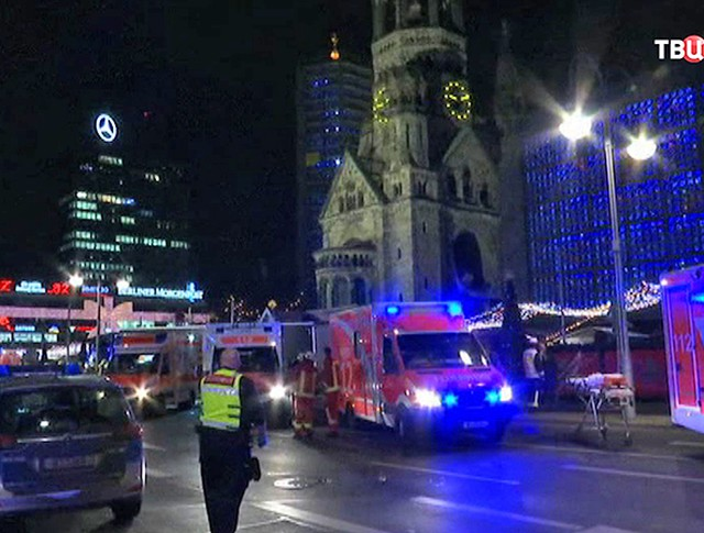 Полиция на месте происшествия в Берлине