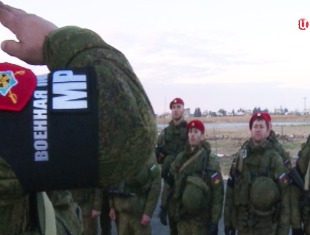 Прибытие российской военной полиции в Сирию