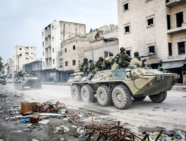 Работа российских саперов в Сирии