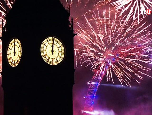 Празднование Нового года в Лондоне