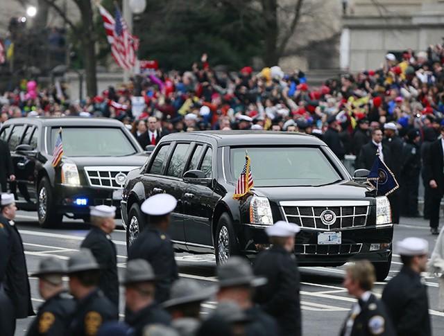Автомобиль 45-го президента США Дональда Трампа