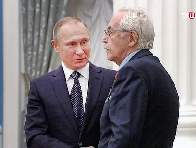 Владимир Путин и Василий Ливанов