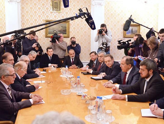 Встреча Сергея Лаврова с делегатами от сирийской оппозиции