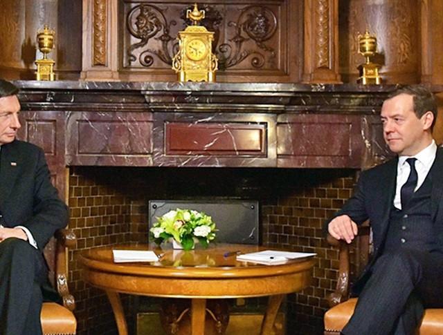 Премьер-министр России Дмитрий Медведев и президент Словении Борут Пахор