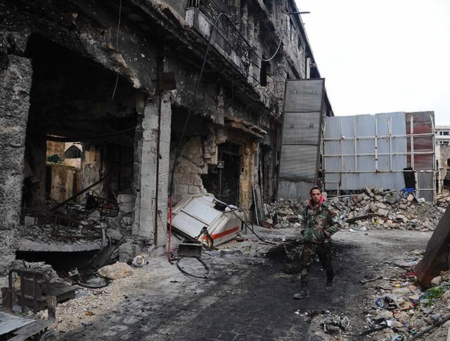 Разрушенный квартал Алеппо, Сирия